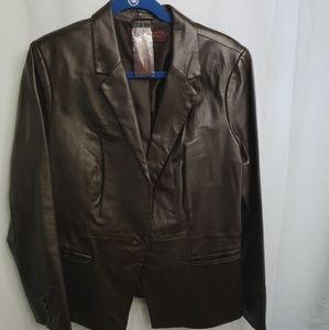 🆕️Hal Rubenstein Genuine Leather Blazer Jacket